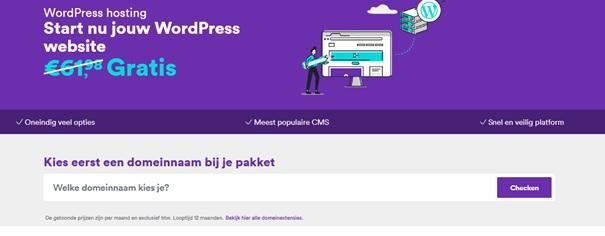 mijndomein wordpress hosting